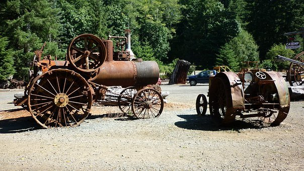 Farm Equipment, Industrial, Equipment, Rust