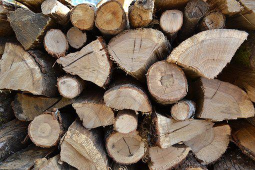Logs, Firewood, Wood Pile, Heating, Slaughter, Sawn