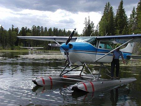 Float Plane, Lake, Float, Plane, Airplane