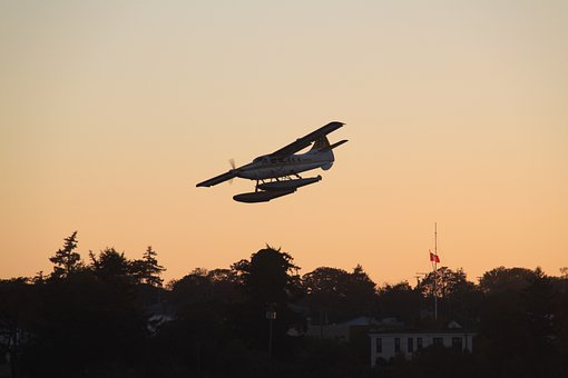 Seaplane, Sunset, Seaplanes, Fly, Water, Sea, Victoria