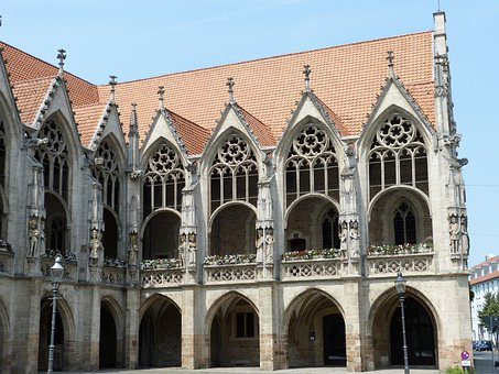 Gothic, Town Hall, Facade, Monument, Gable, Stadtmitte