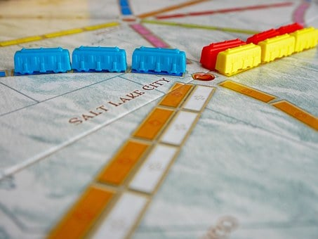 Board Game, Ticket To Ride, Game, Game Pieces, Fun