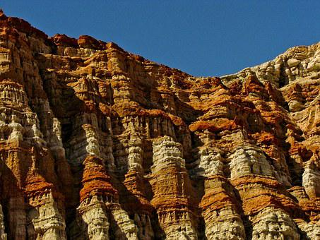 Red Rock Canyon, Rock, Red, Geology, Striations, Canyon