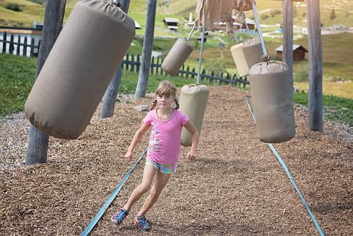 Child, Girl, Blond, Parcour, Games, Play, Adventure