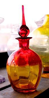 Glass, Decanter, Glassware, Stained, Transparent, Red