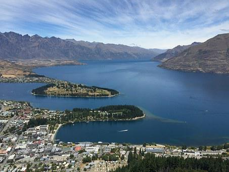 Queenstown, Lake, City, Nature, New, Zealand, Travel