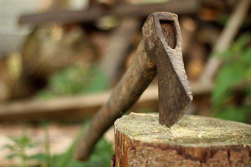 Ax, Axe, Old, Lumberjack, Blade, Background, Log, Chop