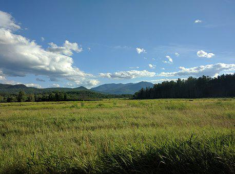 Mountain, Landscape, Sky, Adirondacks, Lake Placid