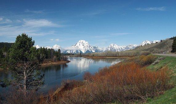 Grand, Tetons, National, Park, Wyoming, America
