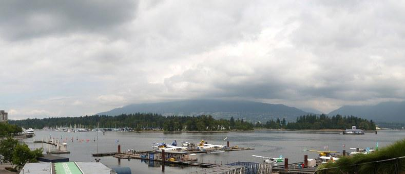 Park, Panoramic, Stanley, View, Seaplane, Vancouver
