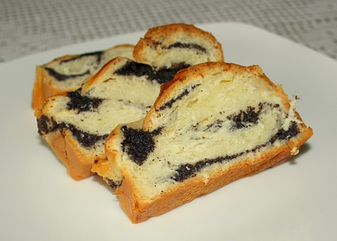 Poppy Seed Cake, Bread, Sweets, Dessert, Pastry