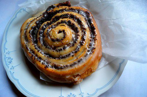 Poppy Worm, Poppy-seed Cake, Cake, Pastries, Treat