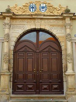 Door, Input, Old Door, Gate, Portal, Building