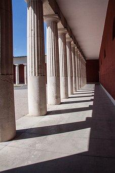 Doric Columns, Cemetery, Rock Carving, Art