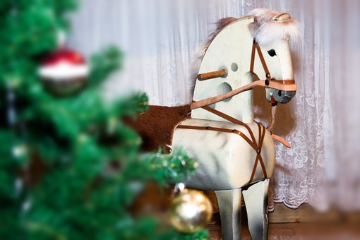 Horse, Rocking Horse, Wood, Seahorses, Play, Christmas