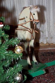 Horse, Rocking Horse, Mold, Wood, Seahorses, Play
