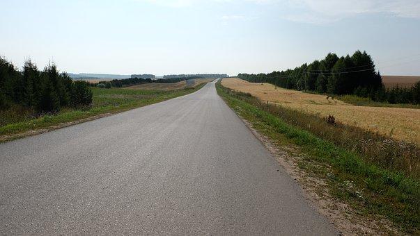 Road, Asphalt, Surface, Russia, Tatarstan, Tyulyachi