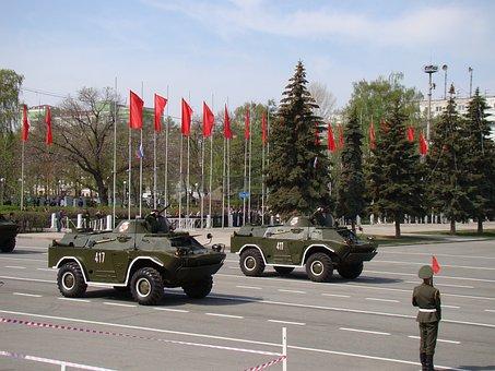 Parade, Victory Day, Samara, Russia, Area, Brdm 2