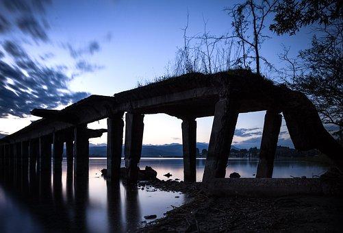Seaplane Base, Lago Maggiore, Sunset