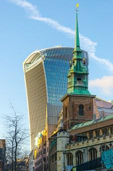 London, Walki-talkie, Skyscraper, Church, Town Center