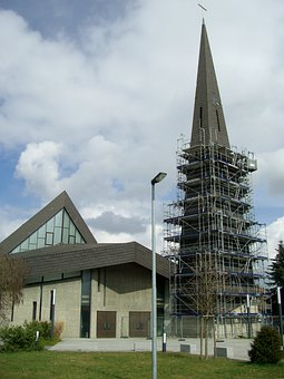Roof Damage, Church, Steeple, Tower, Slate, Integrated