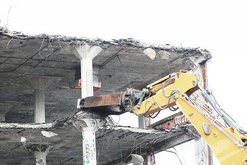 Demolish, Bulldozer, Tearing, Construction, Industry