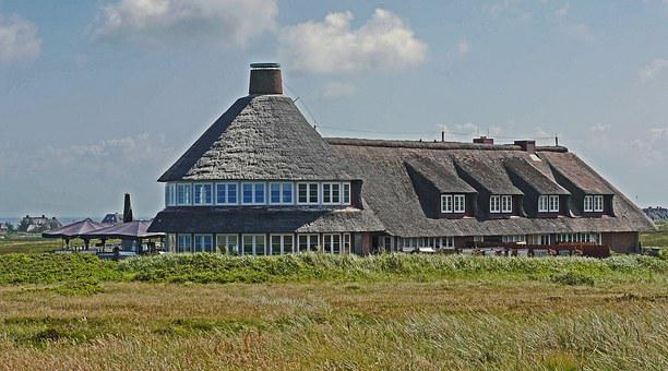 Sylt, Thatched Roof, Dunes, Hotel, Island
