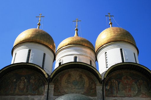 Cathedral, Russian, Orthodox, Three White Towers