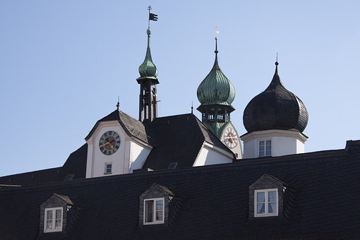 Onion Domes, Tower, Onion Helm, Roof, Building
