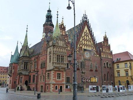 Town Hall, Wroclaw, Poland, Silesia, Facade, Monument