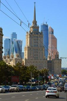 Moscow, Traffic, Main, Road, Cityscape, Russia, Urban