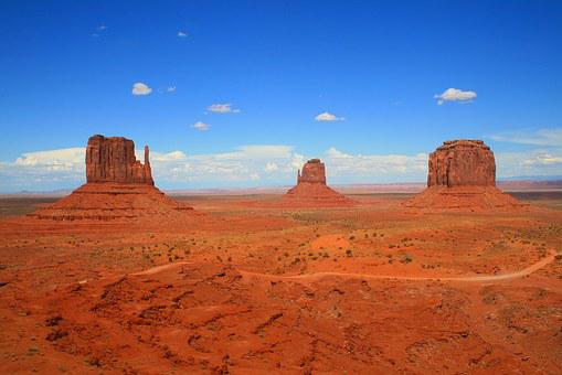 Monument Valley, Usa, Arizona, Mountain, Desert, Rock