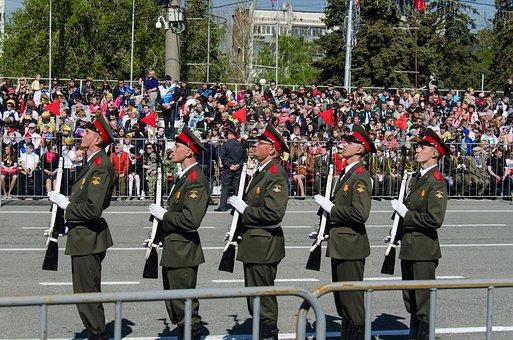 Parade, Victory Day, The 9th Of May, Samara, Area