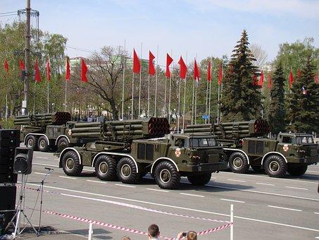 Parade, Victory Day, Samara, Russia, Area