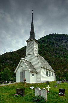 Church, Building, House, Religion, Christian, Jostedal