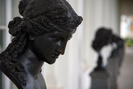 Bust, Sculpture, A Number Of, Black, Elegance, Art