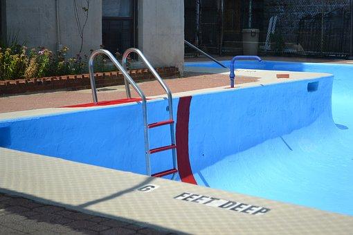 Pool, Water, Empty Pool, Deep, Feet, Blue