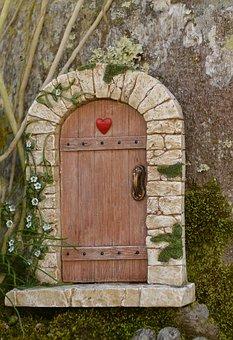 Fairy Door, Tree, Door, Fairy, Magic, Fantasy, Wood