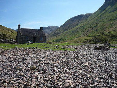 Bothy, Beach, Island, Relaxation, Hills, Scotland