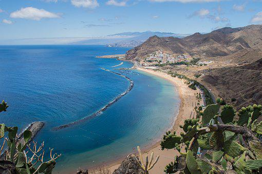 Sta Cruz De Tenerife, Beach, Landscape, Sea, Holiday