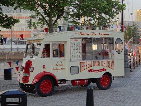 Ice Cream Van, Ice, Ice Cream Truck