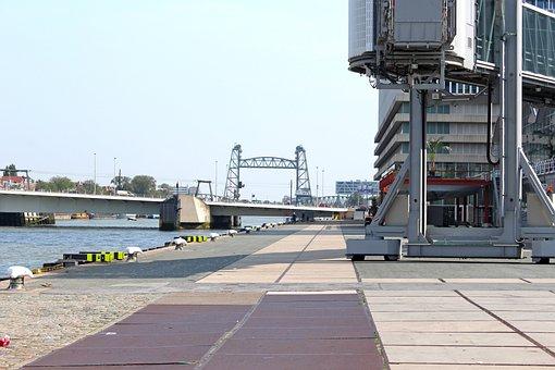 Mesh, Lift Bridge, Bridge, Port, Harbor