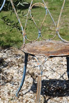 Chair Old, Metal Chair, Chair Garden, Chair, Metal