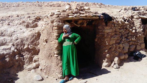 The Sahara Desert, Cave, House, Morocco, Travel