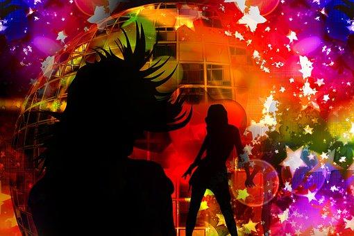 Girl, Disco, Nightclub, Star, Party, Music, Sound