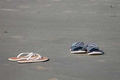Slippers, Beach, Flip Flops, Slipper, Sand Beach, Sand