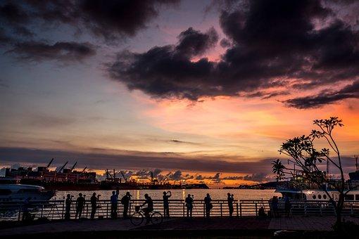 Kaohsiung, Eight Five, Starlight Marina, Sunset