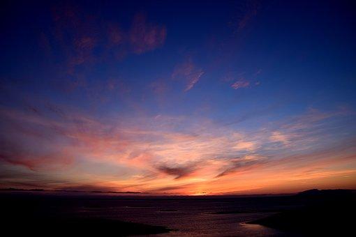 Sunset, Norway, Nordland, Bronnoysund, Rest, Recovery