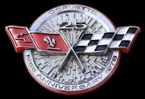 Emblem, Logo, Chevrolet, Corvette, Brand, Symbol