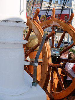 Sailing Ship, The Wheel, Deck